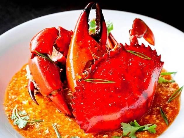 Chili crab at Azur