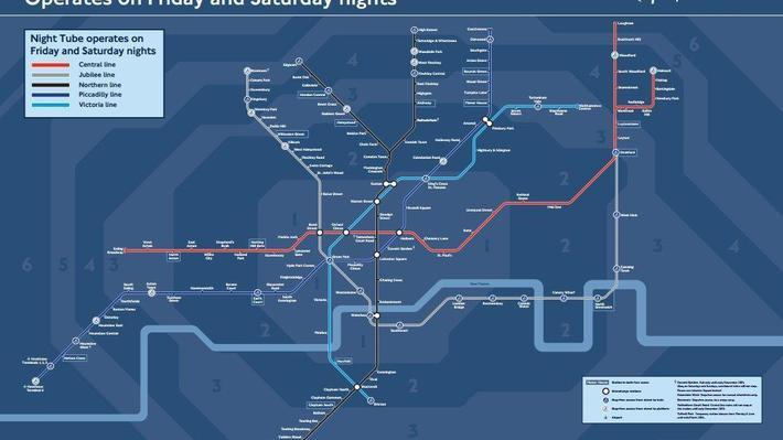 See the new night tube map