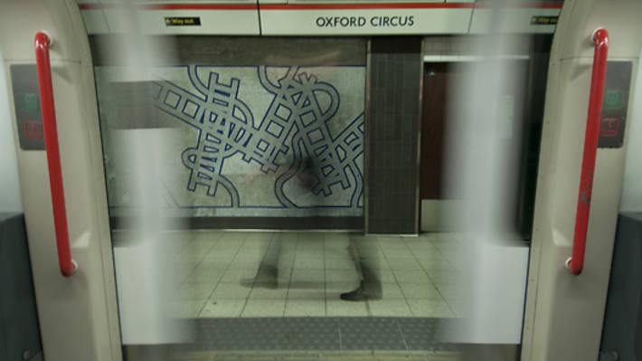 A man is running the tube map