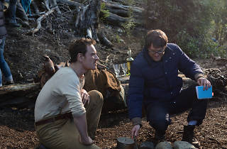 John Maclean directing Michael Fassbender in Slow West