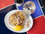 <p>A fried squid bocadillo is on the menu at Bom Bolla.</p>