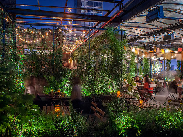 Indoor Garden Restaurant Nyc Best rooftop gardens and urban farms in nyc including gallow green gallow green workwithnaturefo