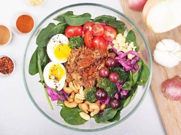 Spinacas - pulled pork salad
