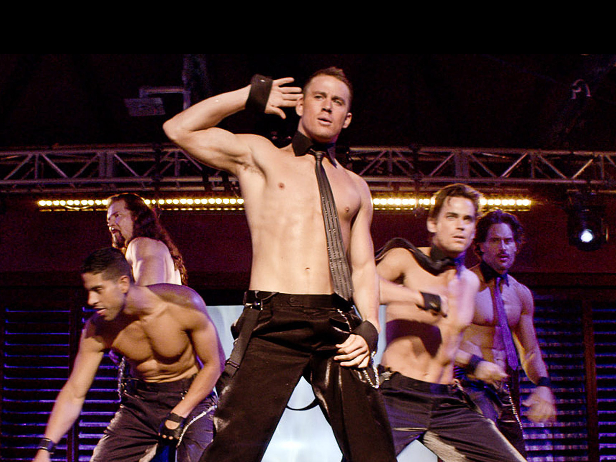 Channing Tatum's torso in Magic Mike