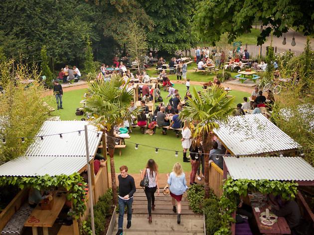 Exterior shot of People's Park Tavern, Hackney