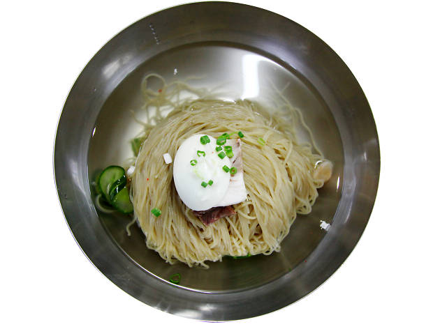 'Cold noodles with soup' at Pyongyang Myeonok
