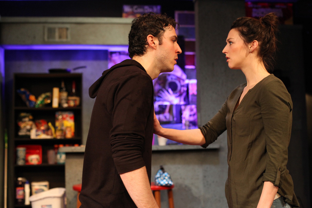 Ben TeBockhorst and Kristen Magee in Interrobang Theatre Project's 2015 production of Really Really