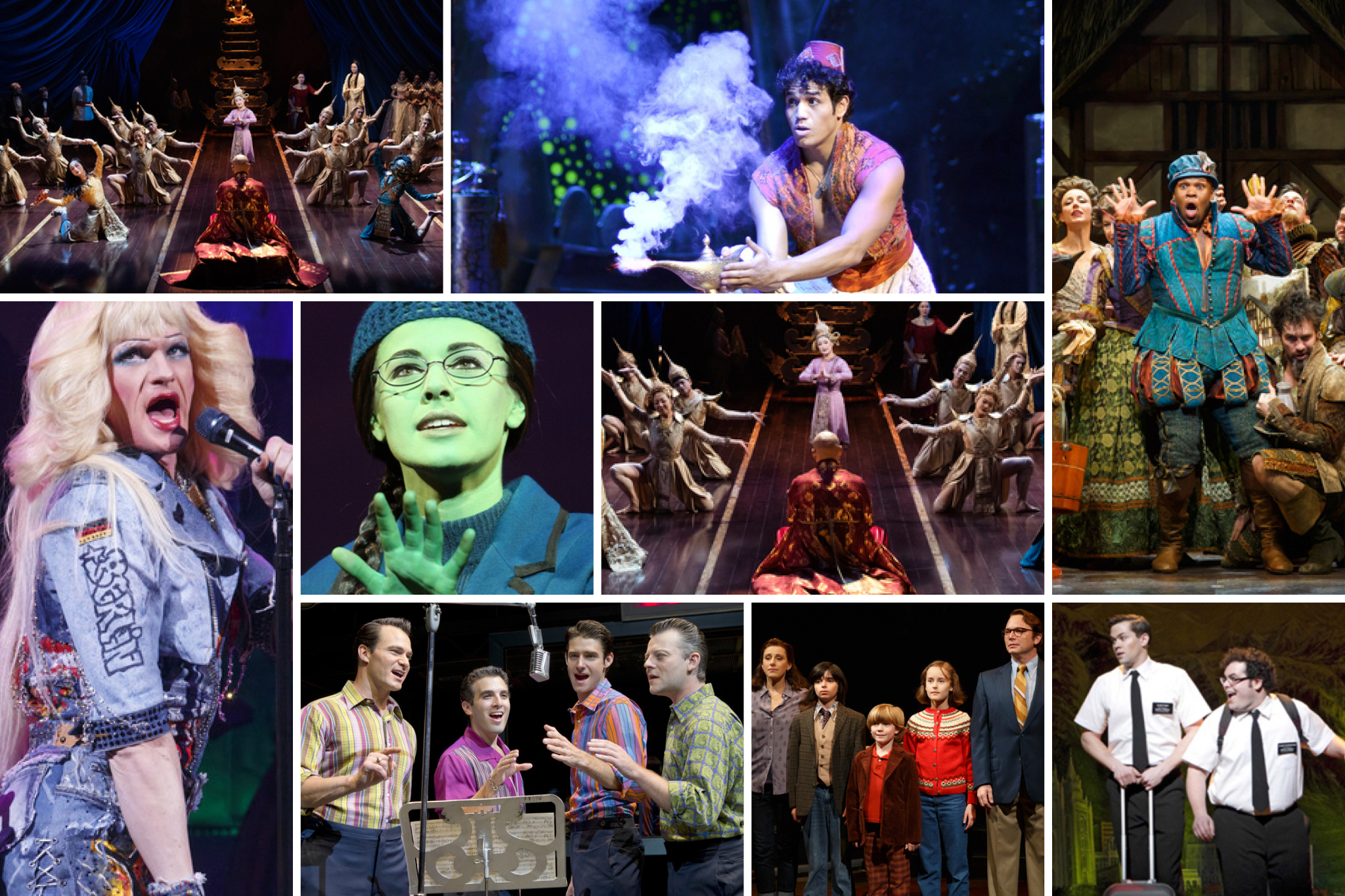 Find every musical on Broadway right now