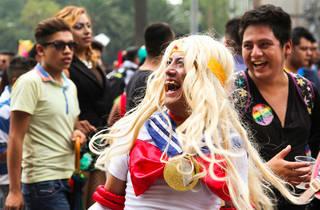Sailor Moon feliz en la marcha (Foto: Alejandra Carbajal)