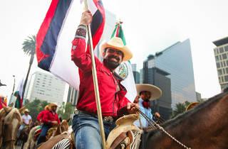 Los vaqueros con caballos (Foto: Alejandra Carbajal)