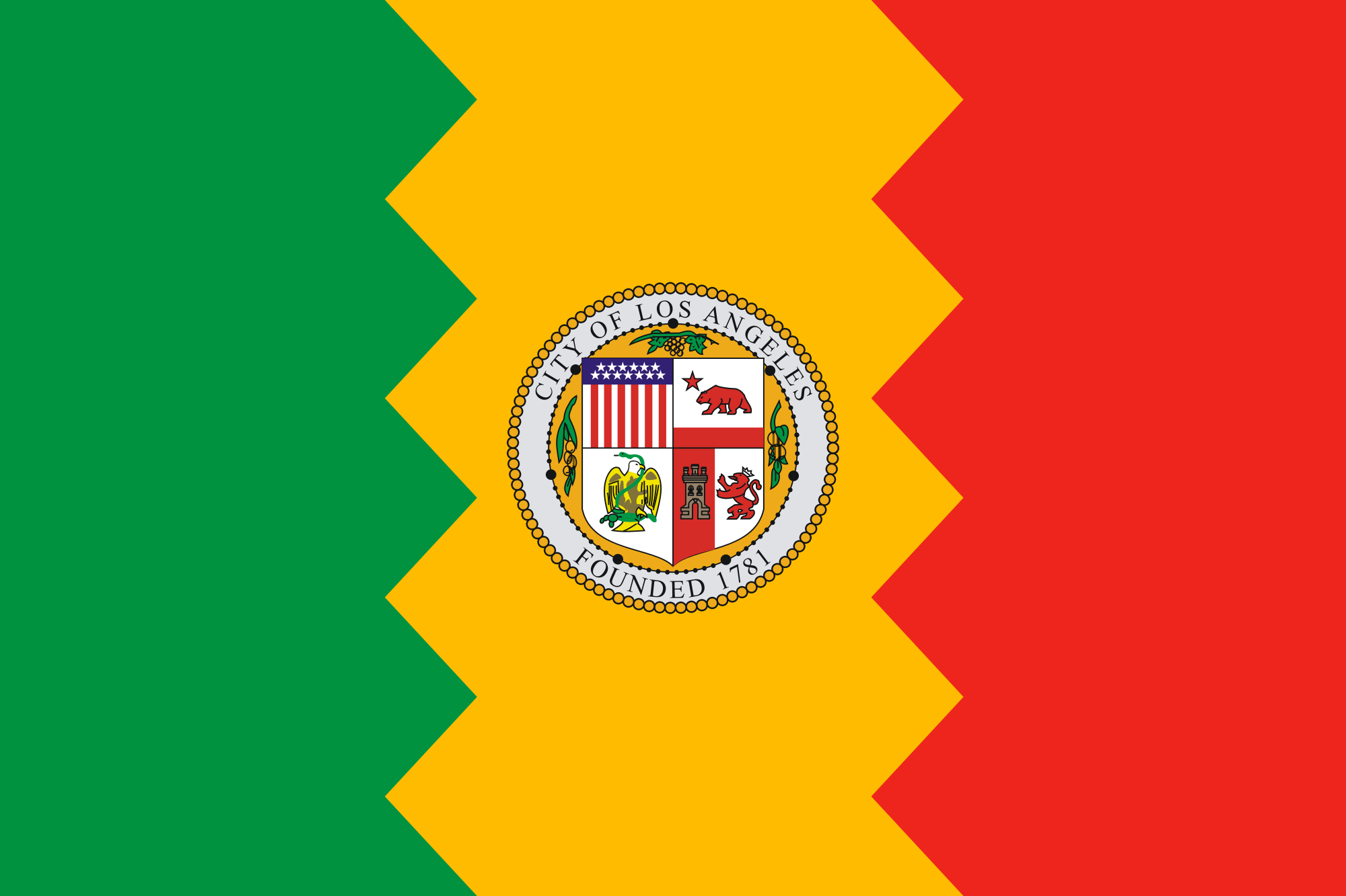we need to talk about the los angeles city flag