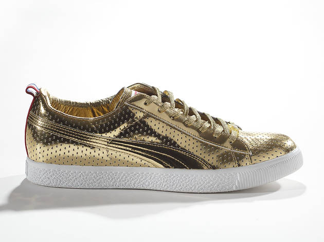 2012, PUMA x Undefeated. Clyde Gametime Gold. PUMA Archives.