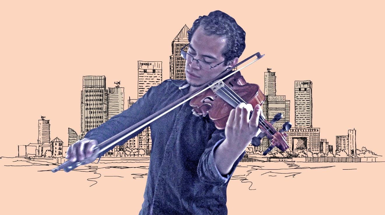 Clásico: Violinista en la acera