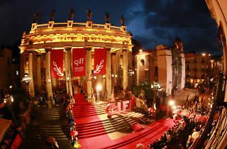 Teatro Juárez durante la inauguración del Festival de Cine de Guanajuato