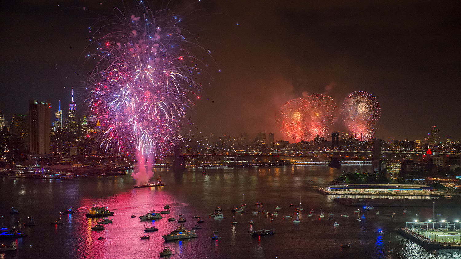 Relive the 4th of July fireworks with these stunning aerial photos