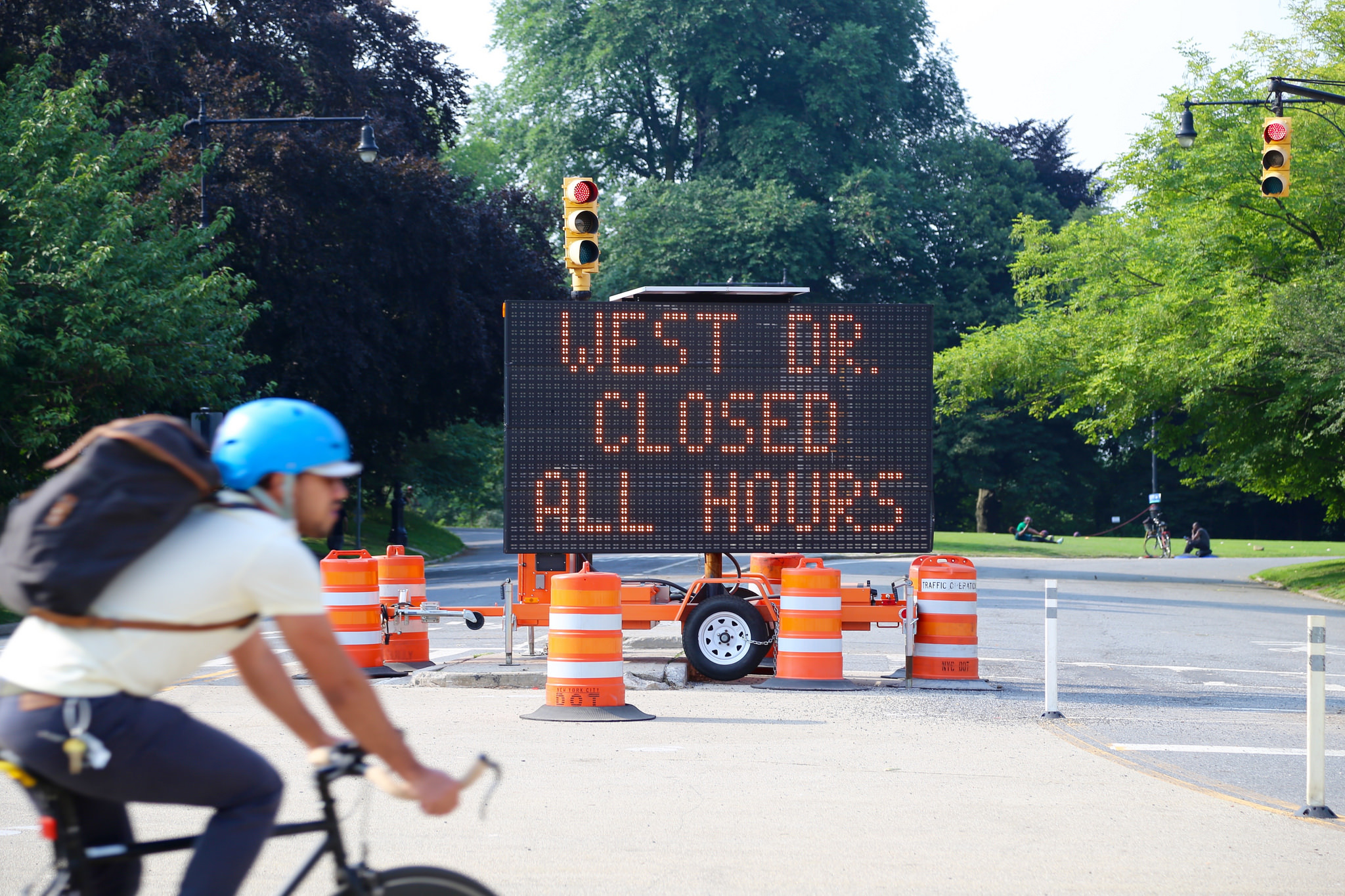 Prospect Park's West Drive closes permanently to car traffic starting today