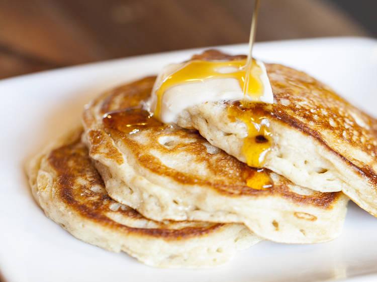 Buttermilk rye pancakes at Sycamore Kitchen