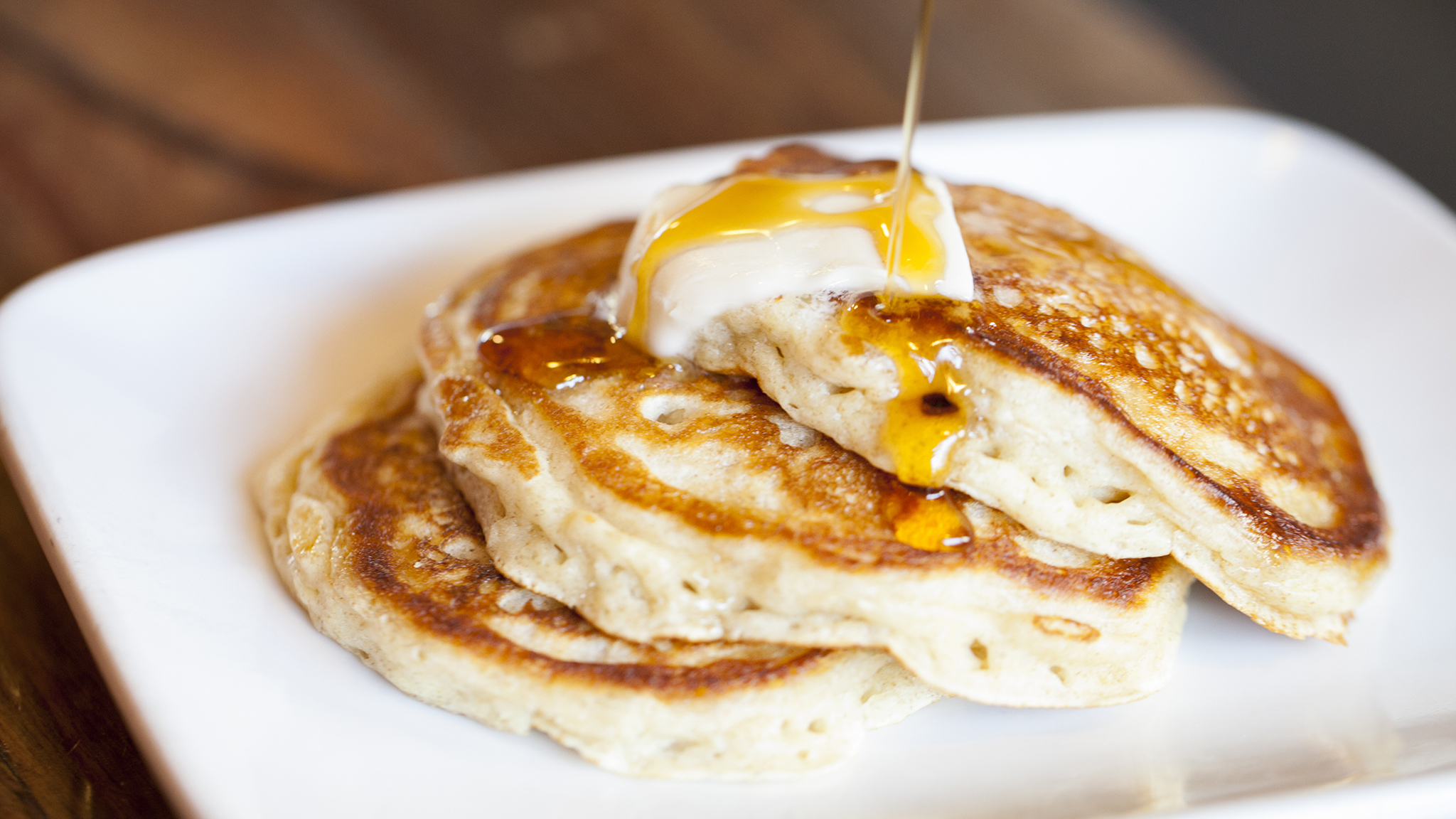 Buttermilk rye pancakes at The Sycamore Kitchen