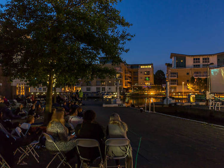 Catch a moving film at the Floating Cinema