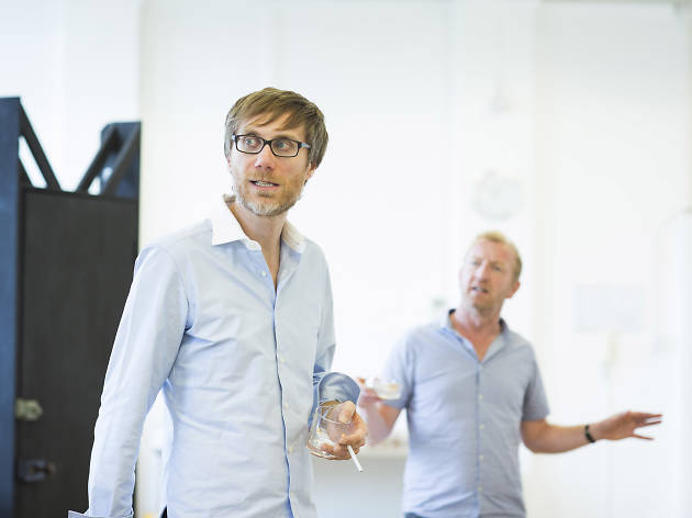 Stephen Merchant and Steffan Rhodri in 'The Mentalists'