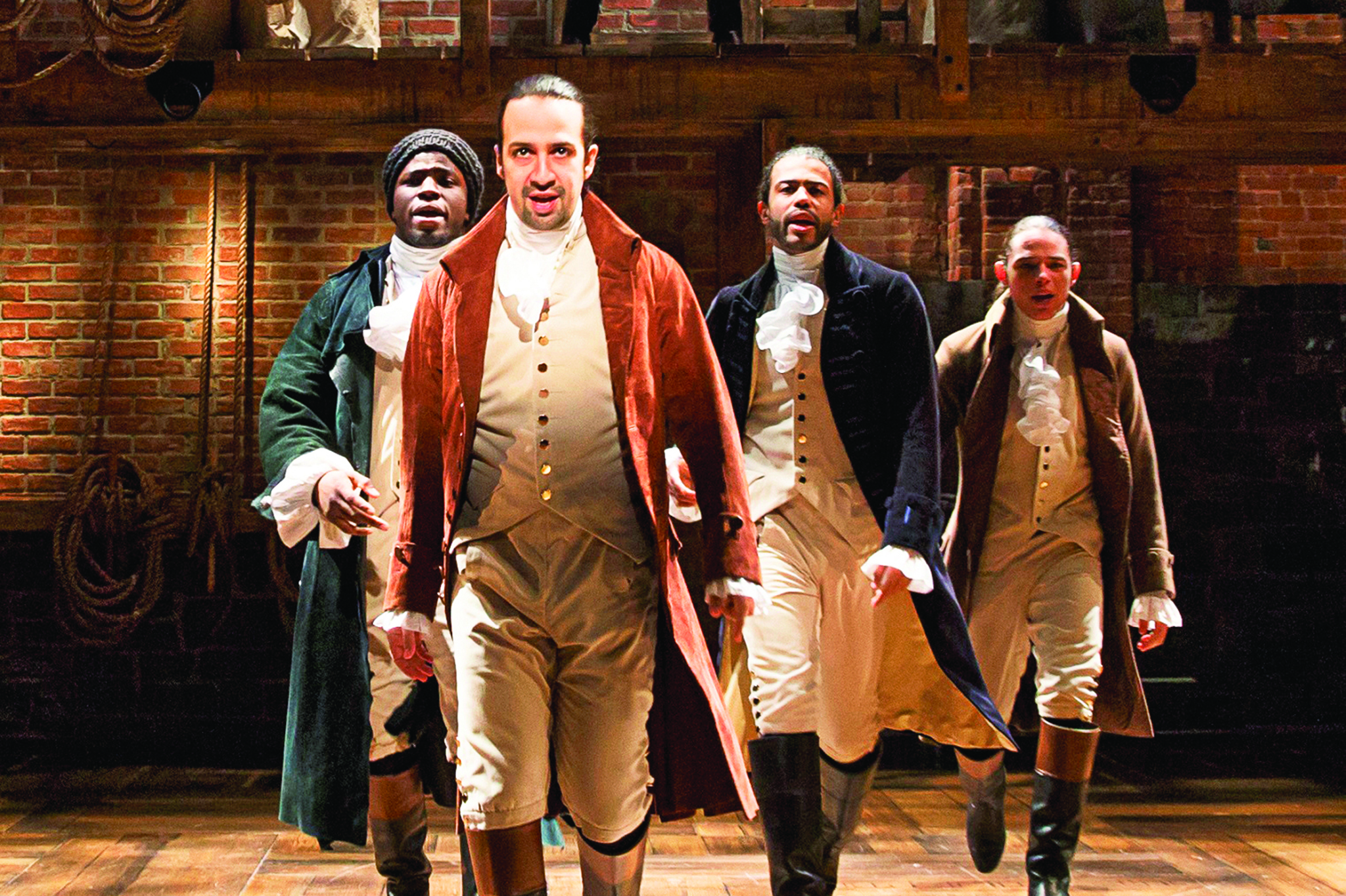 Lin manuel miranda 39 s hip hop musical hamilton is everything for The broadway