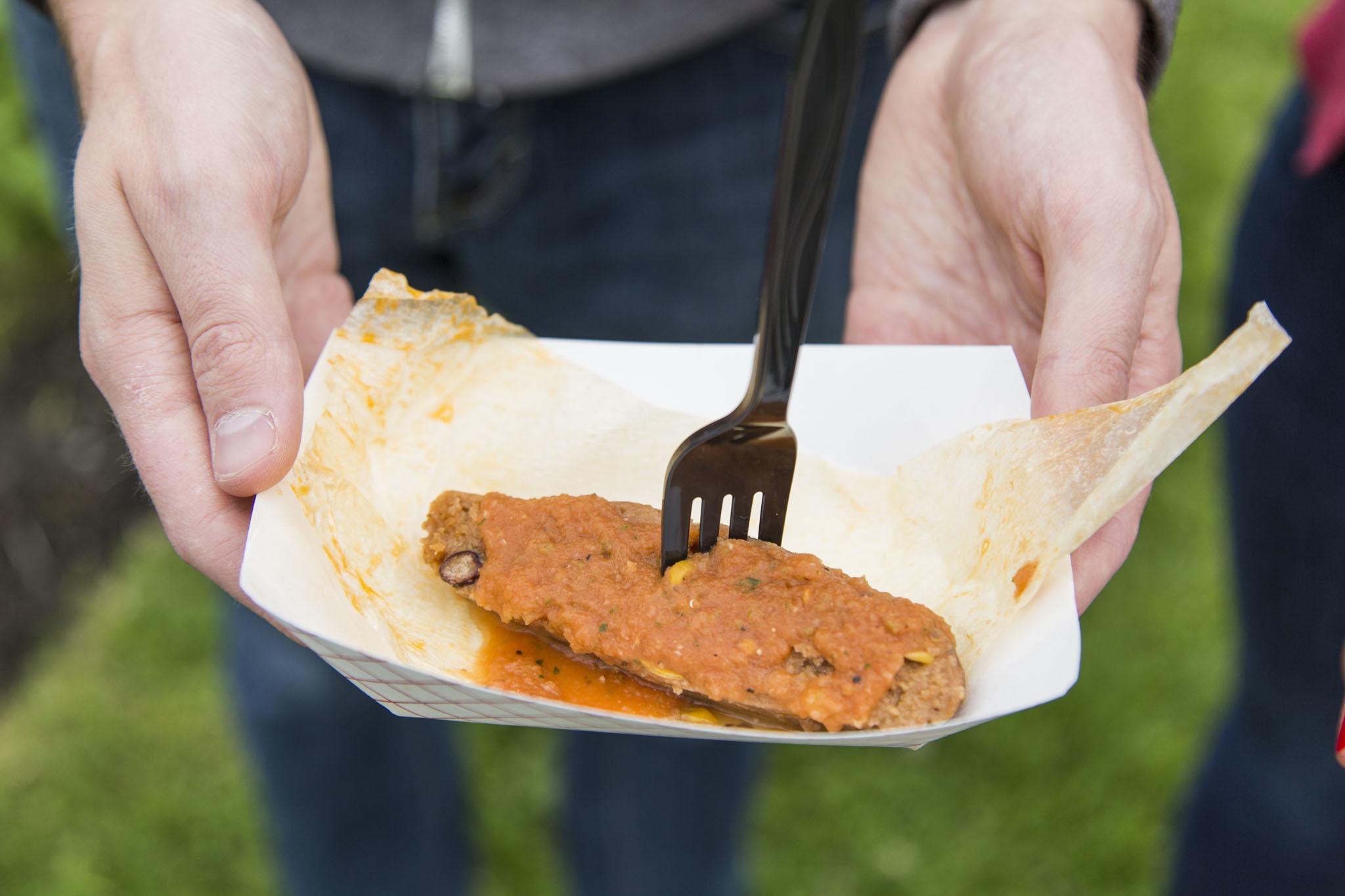 Spicy Black Bean & Corn Tamale from Dia de los Tamales