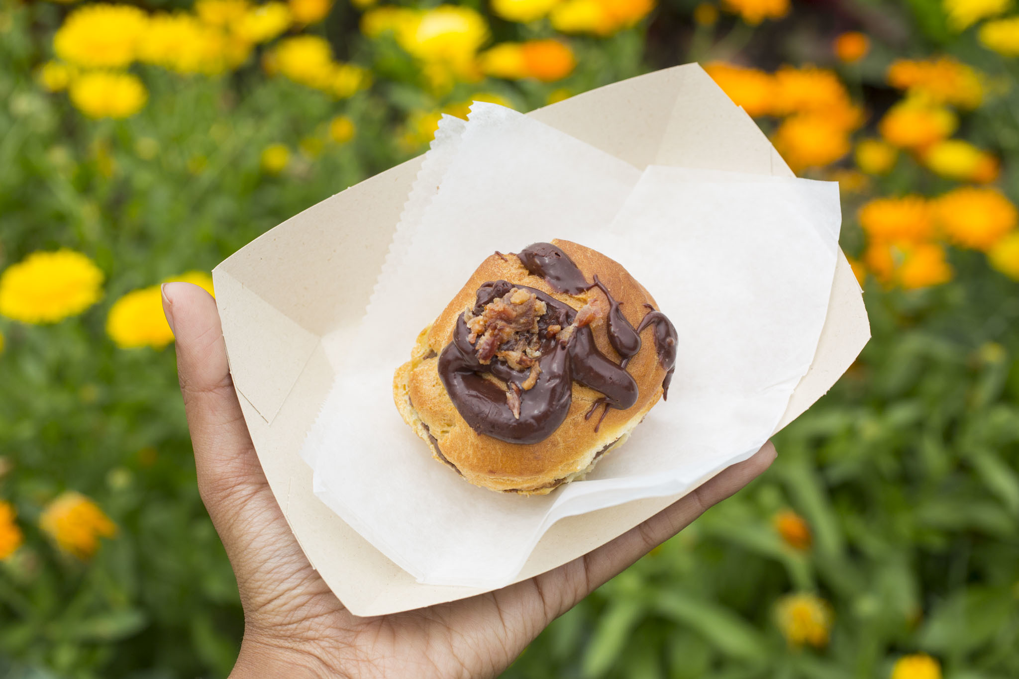 Chocolate-Covered Bacon Puff from Puffs of Doom