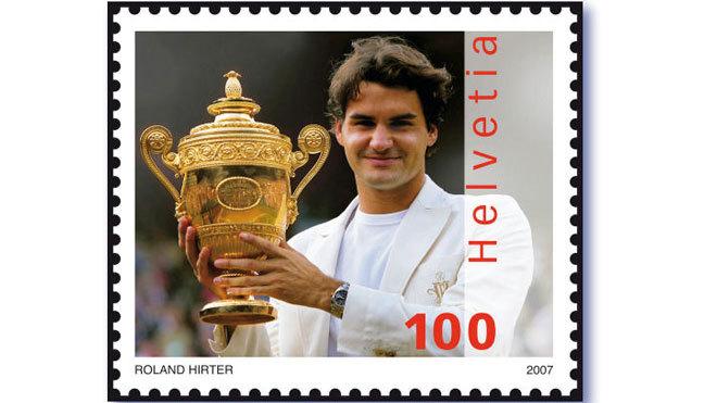 Federer gets stamped on