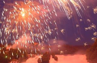Rhine Falls Big Fireworks