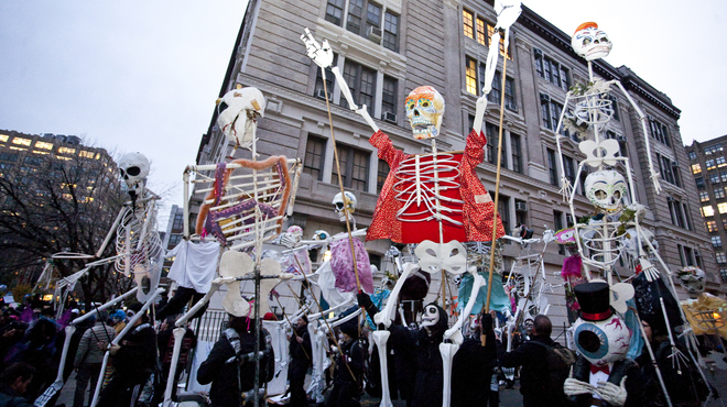 March in a Halloween parade