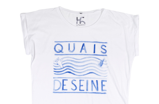 (T-shirt Quai de Seine par TH Gallery 30 euros)