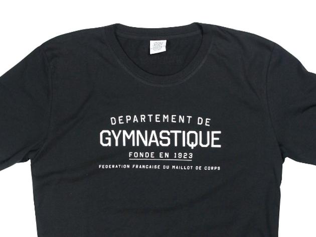 (T-shirt Département de gymnastique par FFMC 35 euros)