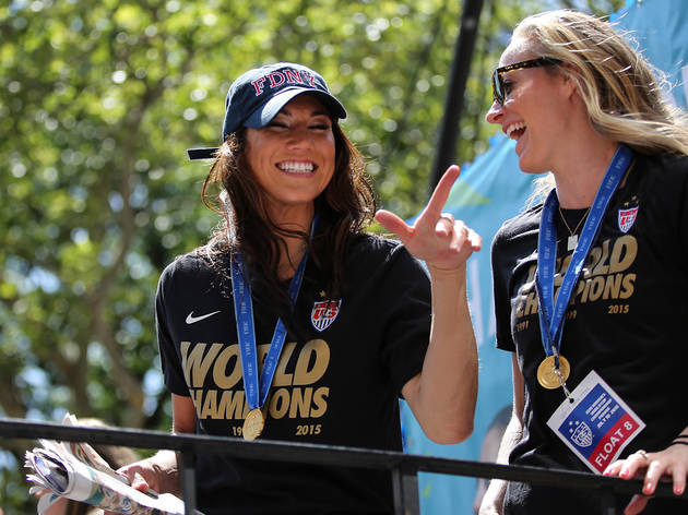U.S. Women's Soccer Team celebrated with a parade through the Canyon of Heroes in New York City.