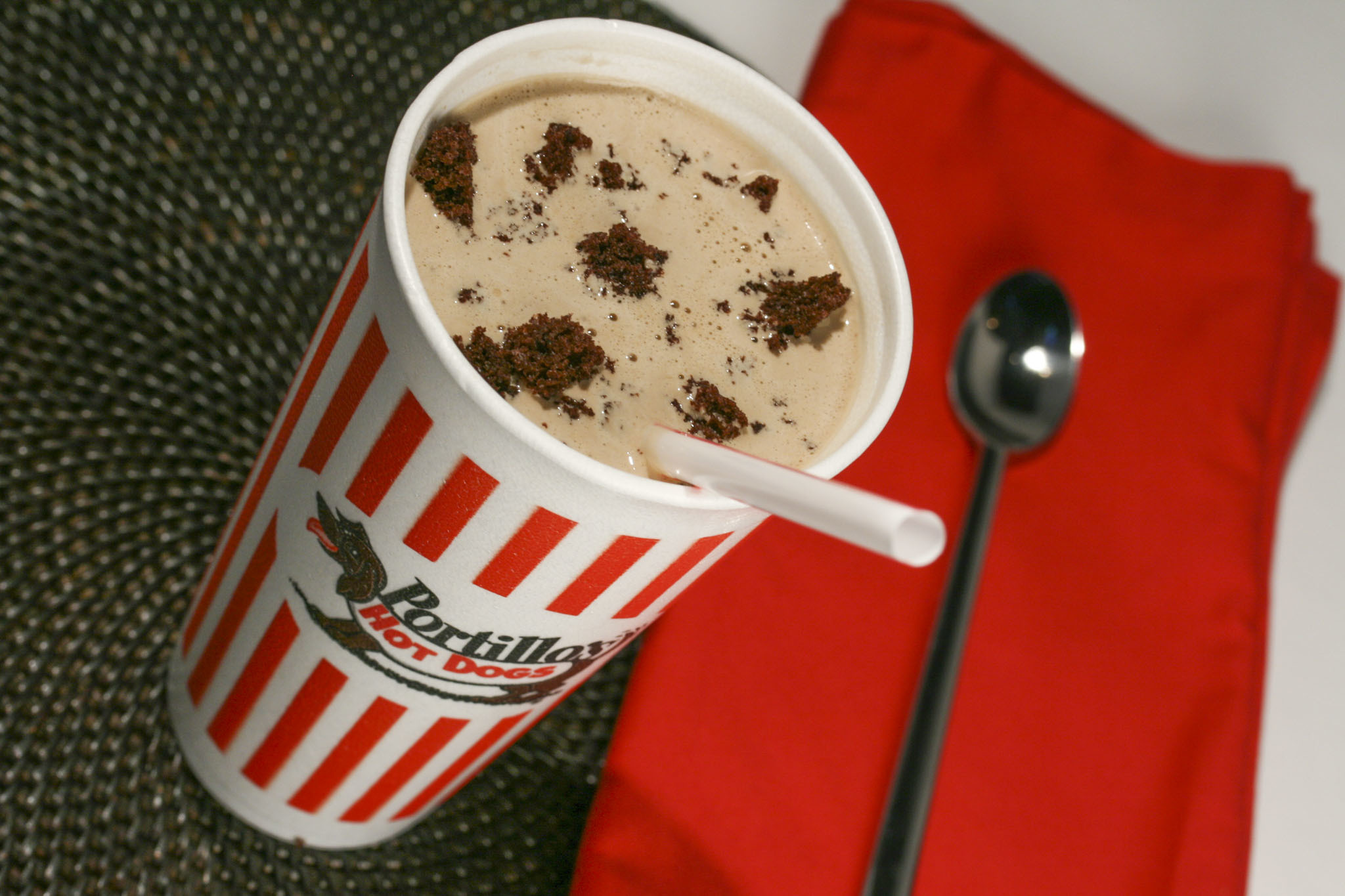 Chocolate Cake Shake at Portillo's, $3.25