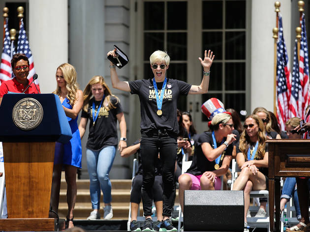 Ceremony at City Hall for the U.S. Women's National Team