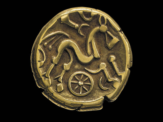 (Iron Age Coin, Ruscombe, Berkshire, England, 50–20 BC © The Trustees of the British Museum)