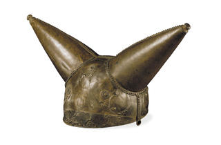 (Horned helmet, From the River Thames at Waterloo Bridge, London, 200-50 BC © The Trustees of the British Museum)