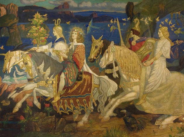(The Riders of the Sidhe, Tempera on canvas  John Duncan, 1911 © Dundee City Council (Dundee's Art Galleries and Museums))