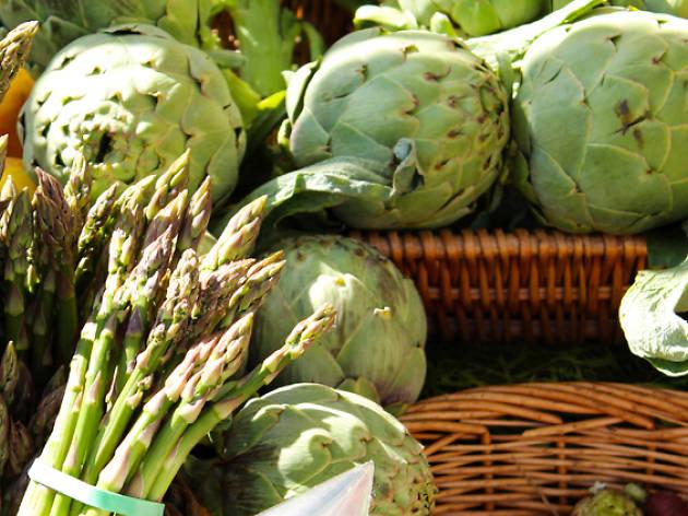 asparagus, artichokes, fresh veg