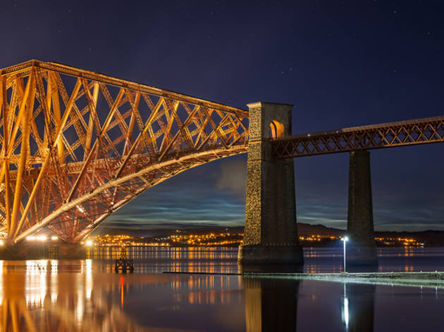 1 Forth Rail Bridge, night
