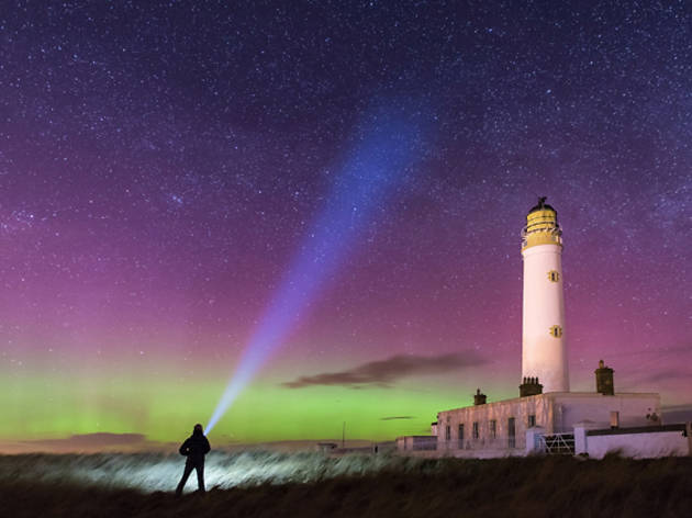 14 lighthouse torch northern lights aurora borealis