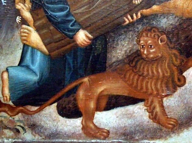 Detall animal pintura museu de Lleida
