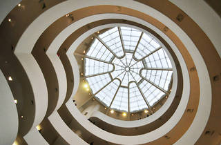 Looking up inside the Guggenheim
