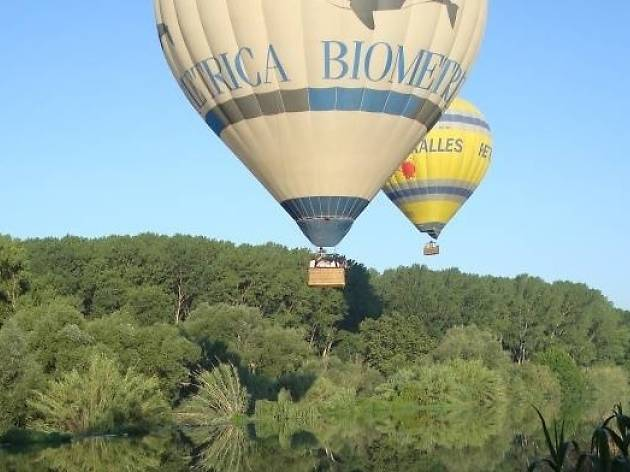 Balloon flight along the Costa Brava
