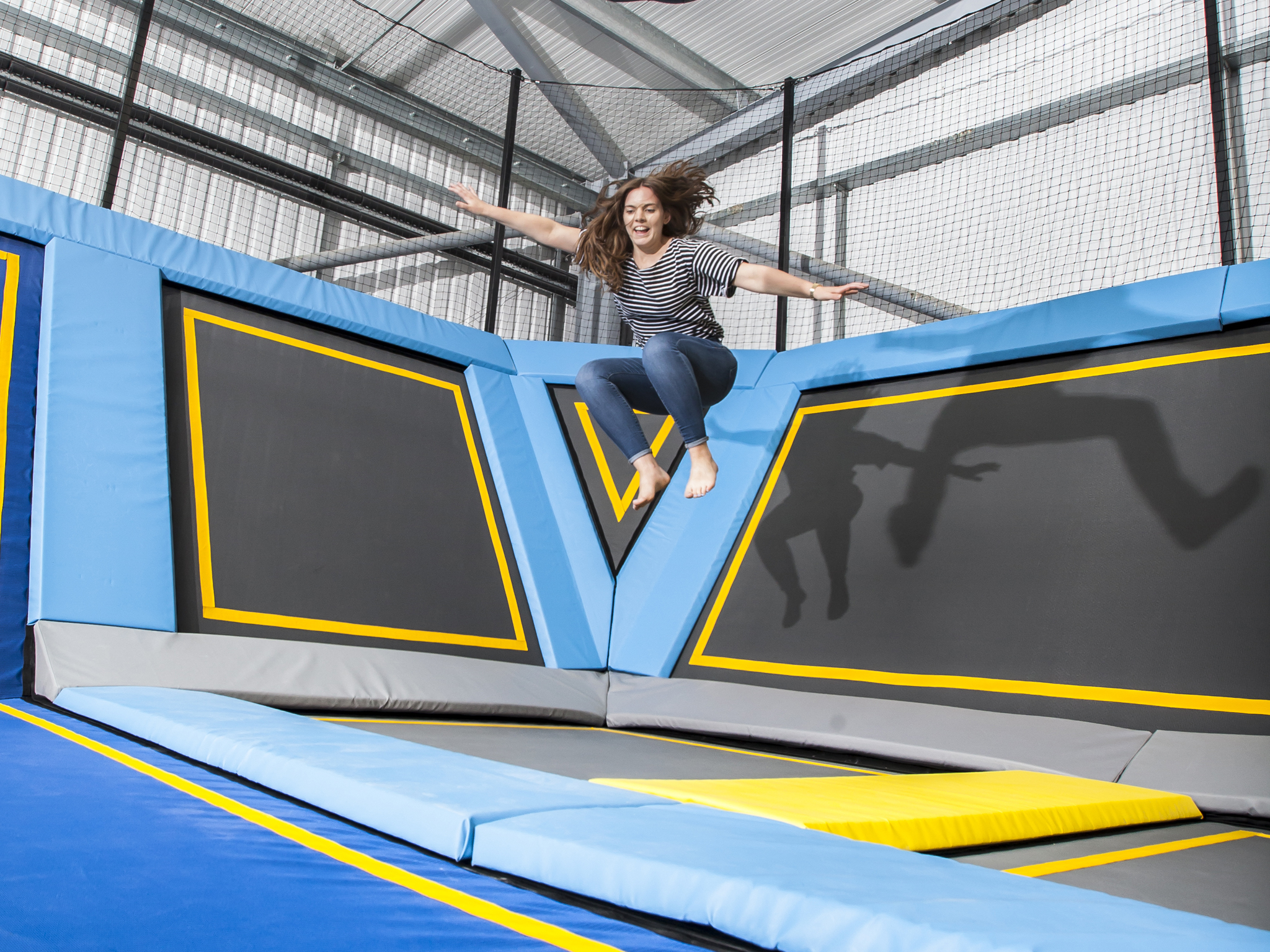Get bouncy at a trampoline park