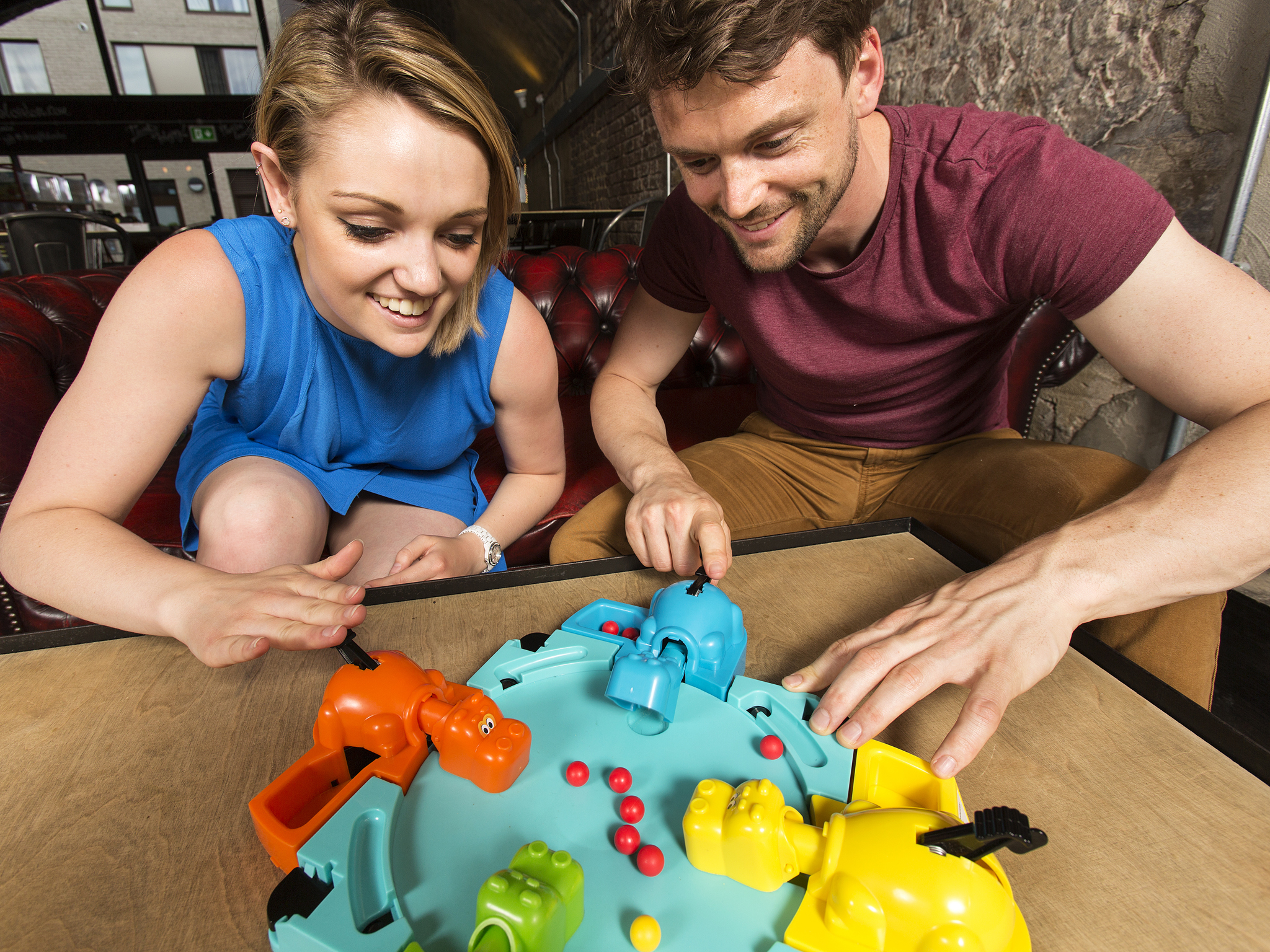 Play Hungry Hungry Hippos at Draughts