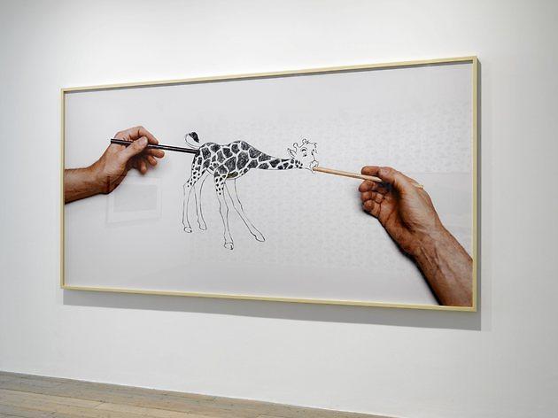 (Larry Johnson: 'Untitled (Raven Row Giraffe)', 2015. photo: Marcus J Leith)
