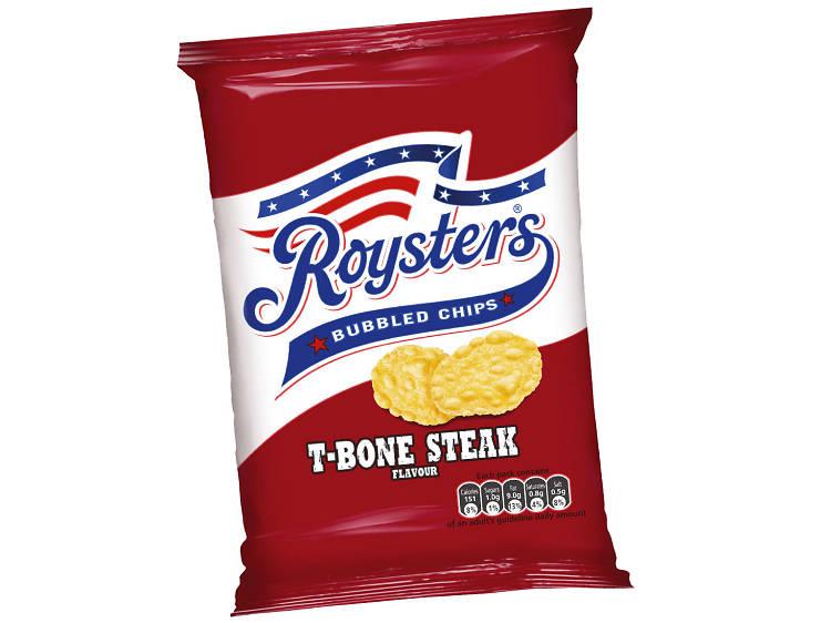 Royster's T-Bone Steak Bubbled Chips