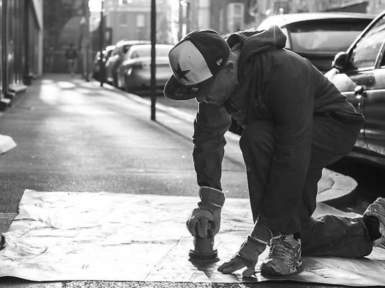 Step five: become a street  artist again