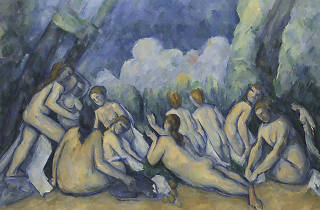 Paul Cézanne, Bathers (Les Grandes Baigneuses) about 1894-1905 © The National Gallery, London